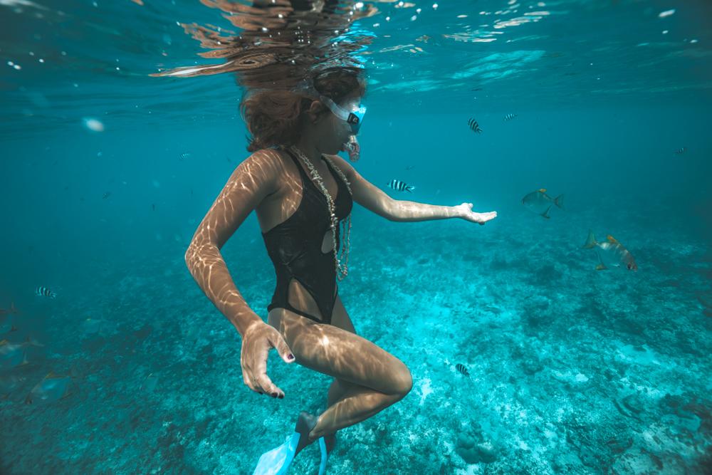 Snorkelling-, Praslin Seychelles