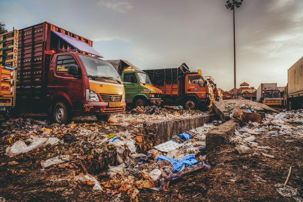 Parking de camions, Chennai Tamil Nadu