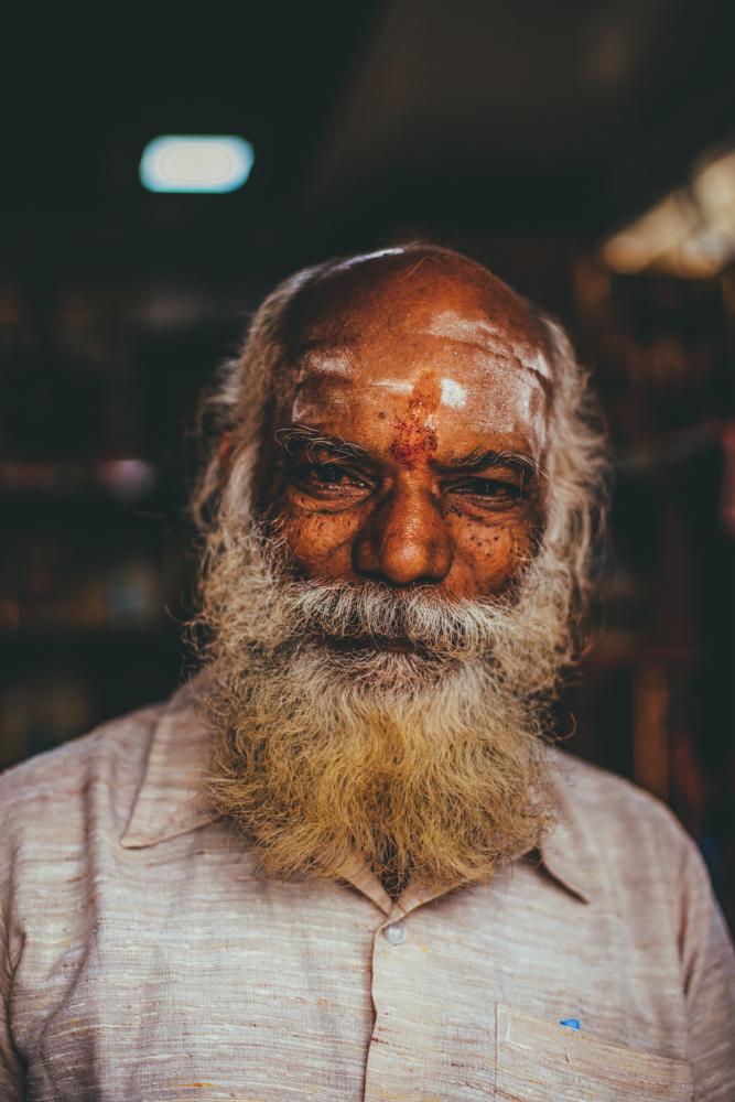 Portrait d'un Brahman, Kanchipuram Tamil Nadu