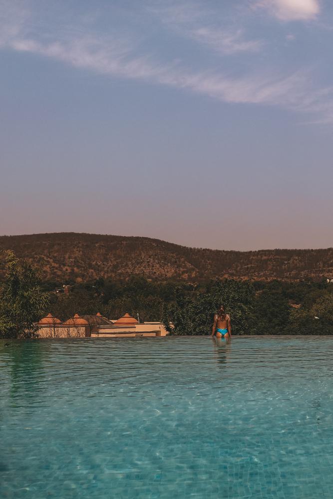 Hotel pool, Jaipur Inde